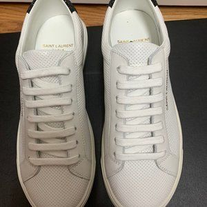 Saint Laurent White and Black Andy Sneakers